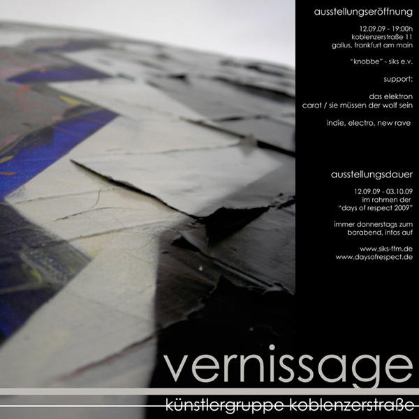 Flyer Vernissage